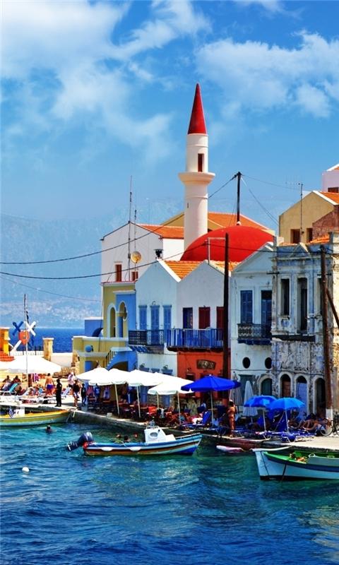 Beautiful Greece Corner Windows Phone Wallpaper