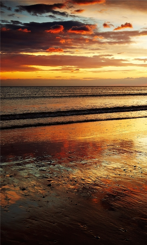 Evening Sunset Windows Phone Wallpaper