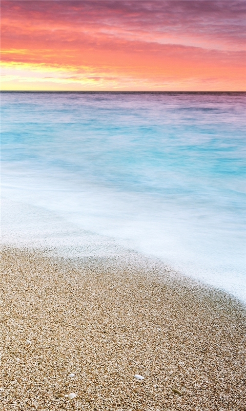 Sunset at Beach Windows Phone Wallpaper