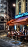 Paris street corner coffee