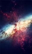 Nebula Pink Blue Explosion