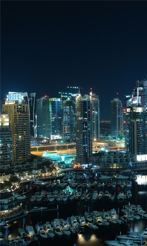 Amazing Dubai Marina Windows Phone Wallpaper