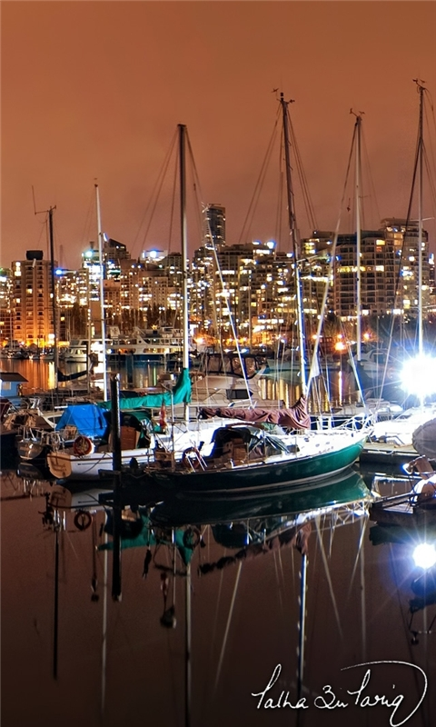 Vancouver Coal Harbour Nights Windows Phone Wallpaper