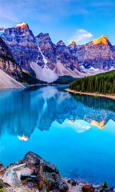 The Lake Mirror Windows Phone Wallpaper