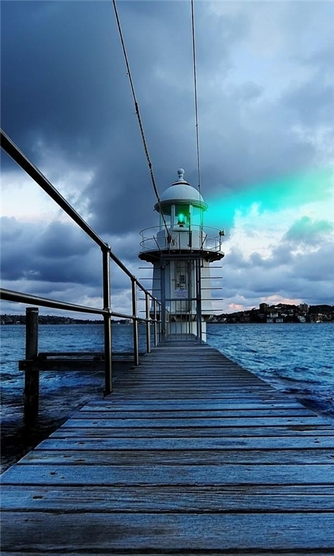 Sydney Lighthouse View Windows Phone Wallpaper