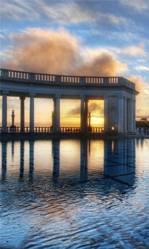 Neptune pool hearst castle Windows Phone Wallpaper