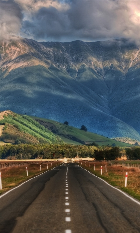 Road in New Zealand Windows Phone Wallpaper