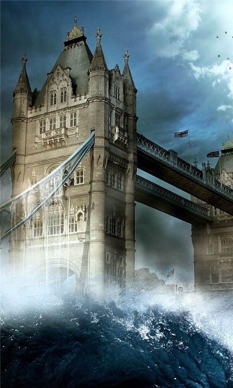 London Tower Bridge Wave Windows Phone Wallpaper