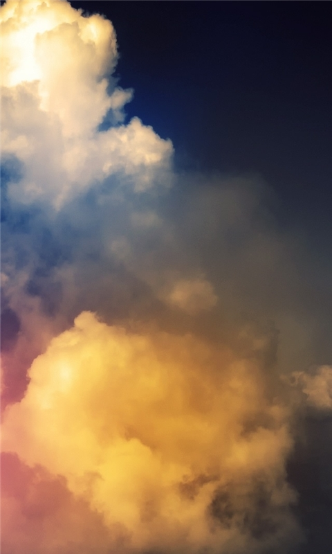 Rainbow Above Clouds Windows Phone Wallpaper