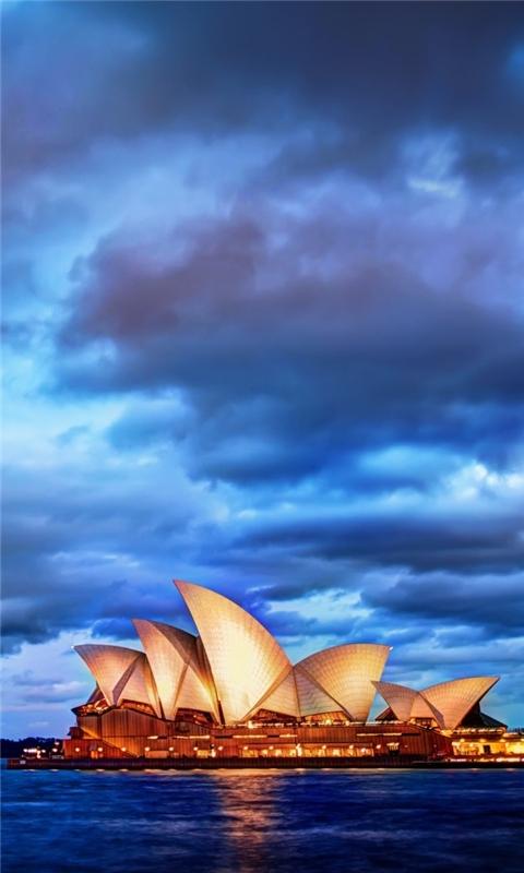 Sydney Glows At Sunset Windows Phone Wallpaper