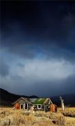 Abandoned House Under Rainbow