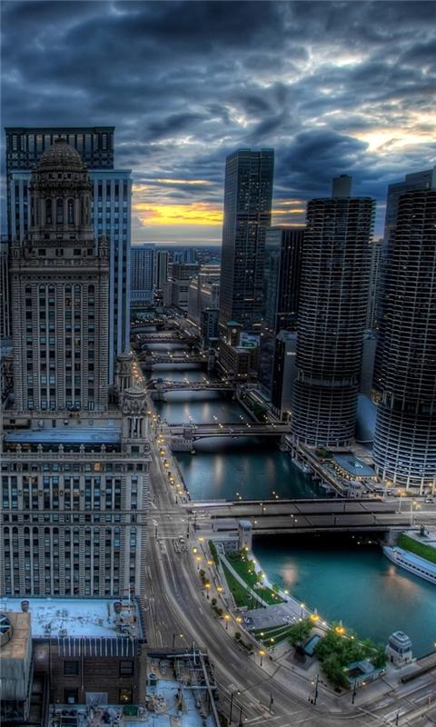Chicago city illinois Windows Phone Wallpaper