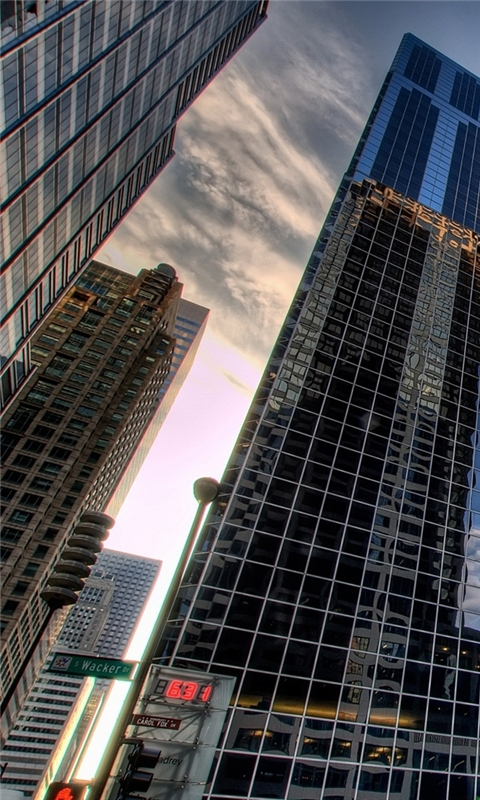 Chicago skyscrapers Windows Phone Wallpaper