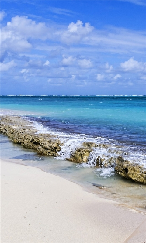 Calm Ocean Waves Windows Phone Wallpaper
