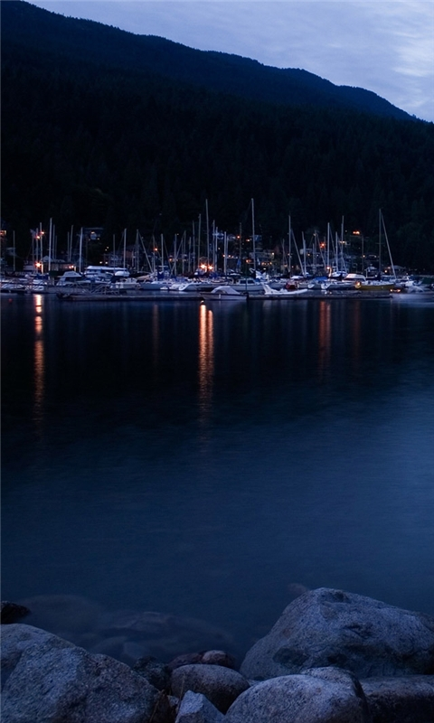 Deep Cove at Dusk Windows Phone Wallpaper