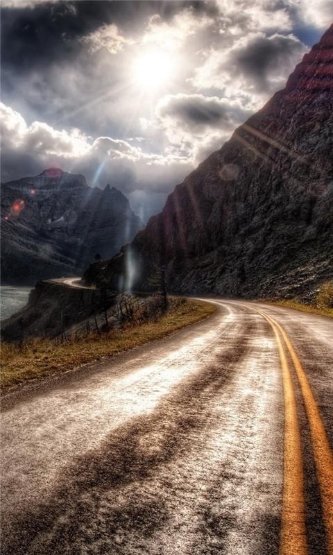 Hdr Mountain Road Windows Phone Wallpaper
