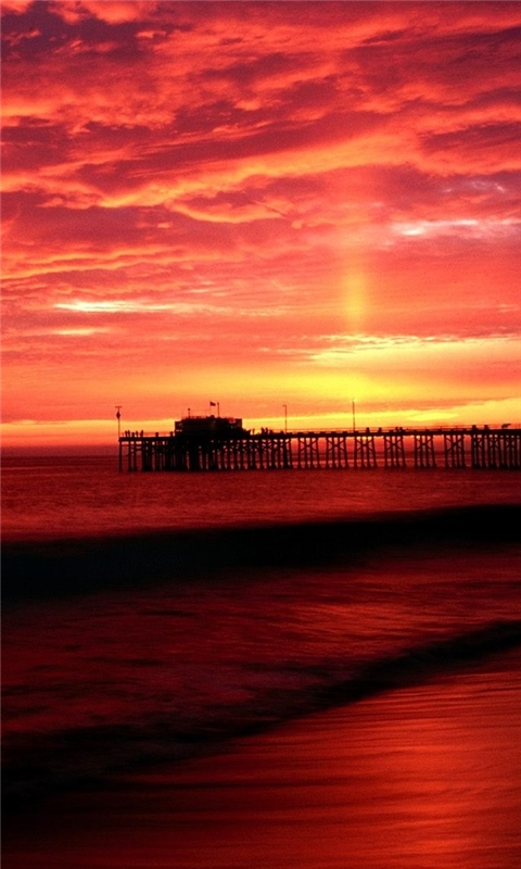 Balboa Pier California Windows Phone Wallpaper