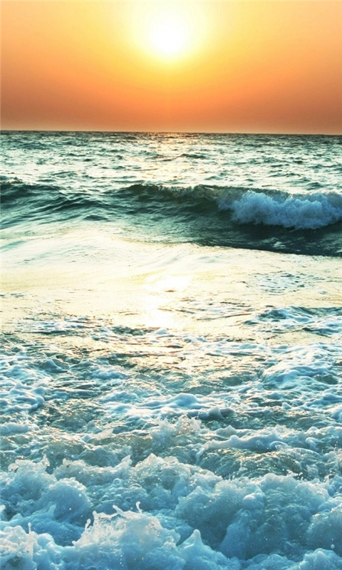 Turbulent sea Windows Phone Wallpaper