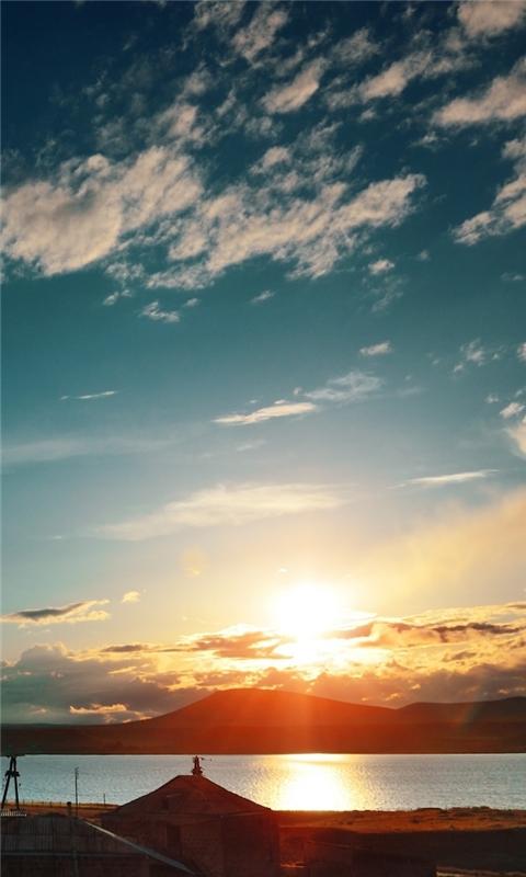 Armenia Sunset From Train Windows Phone Wallpaper