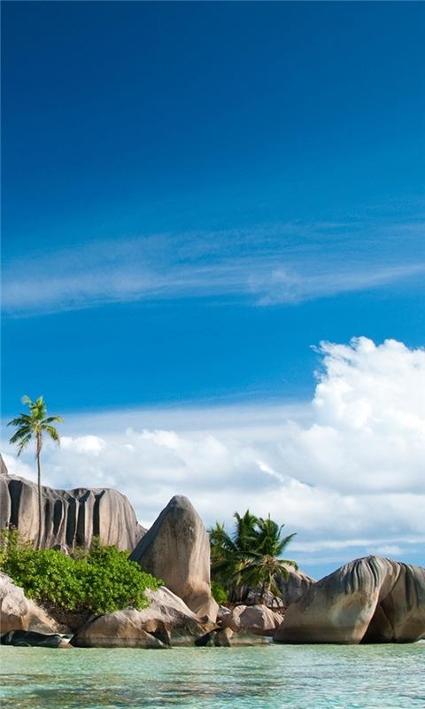 Seychelles Islands Landscape Windows Phone Wallpaper