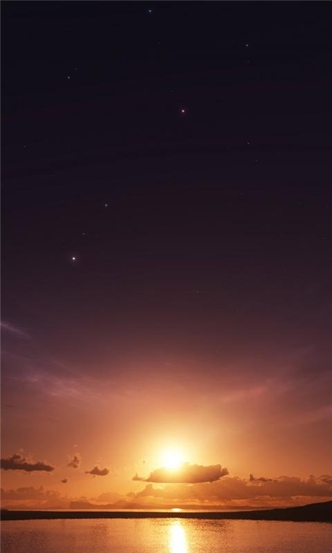 Sea Sunset Windows Phone Wallpaper
