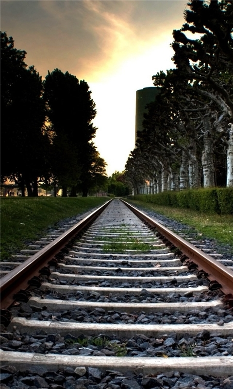 Railroad Track Windows Phone Wallpaper