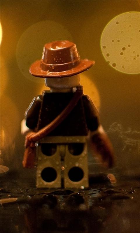 Indiana Jones Lego In The Rain Windows Phone Wallpaper