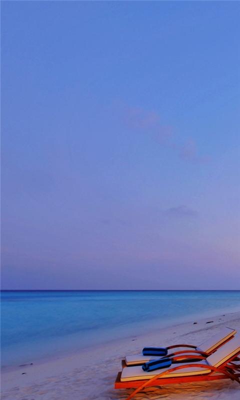 Luxury Beach Resort Windows Phone Wallpaper
