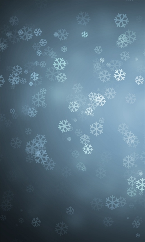 Snowflakes Background Windows Phone Wallpaper
