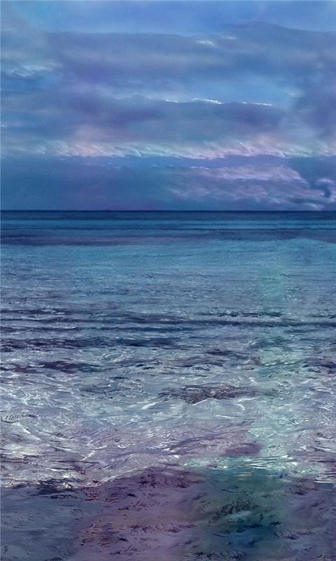 Sea blue Windows Phone Wallpaper