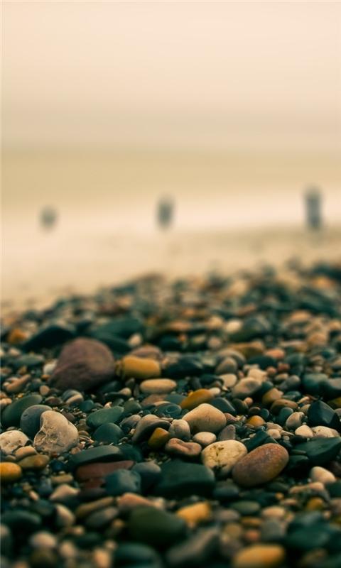 Beach Pebbles Autumn Windows Phone Wallpaper