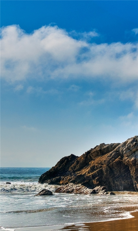 Malibu Beautiful Beach Windows Phone Wallpaper