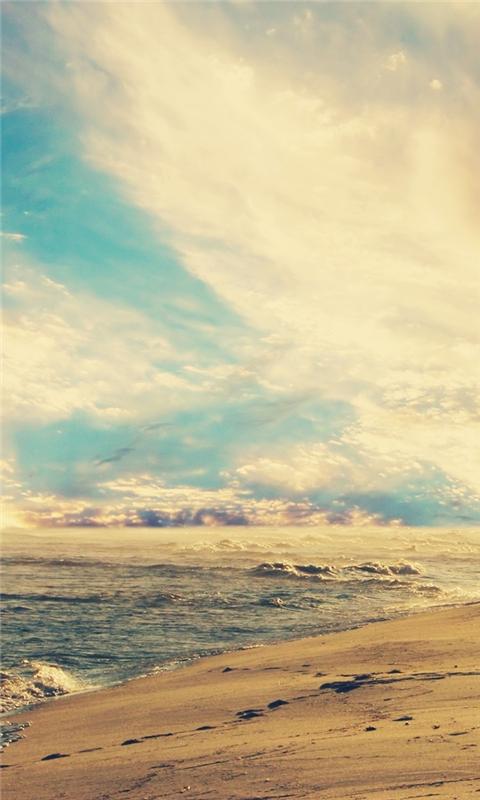 Sunset Beach Windows Phone Wallpaper