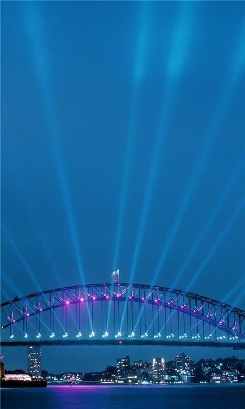 sydney opera house lights Windows Phone Wallpaper