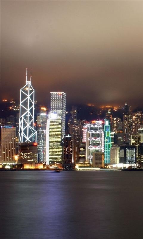 hong kong city scape Windows Phone Wallpaper