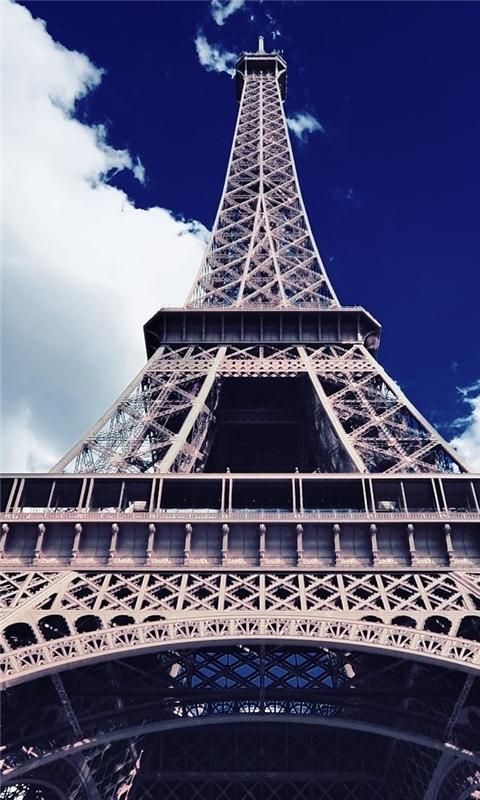 Eiffel Tower Bottom Up View Windows Phone Wallpaper
