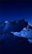Dark Blue Mountains