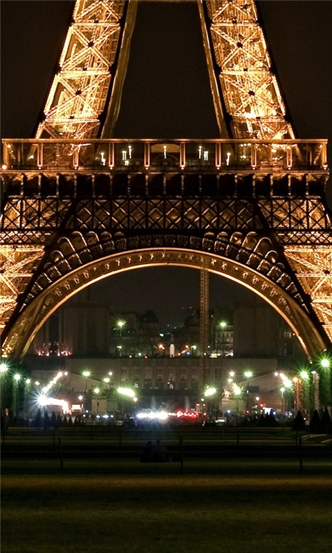 Eiffel Tower Light Windows Phone Wallpaper