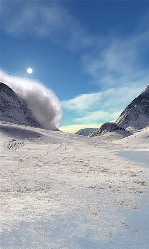 Snow Mountains Windows Phone Wallpaper