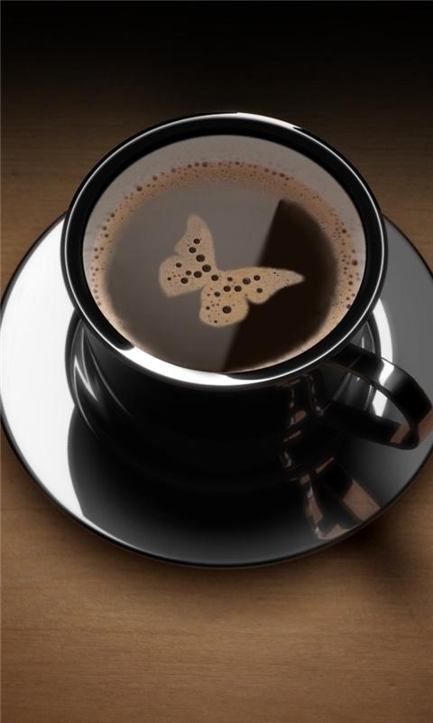 Butterfly Coffee Windows Phone Wallpaper