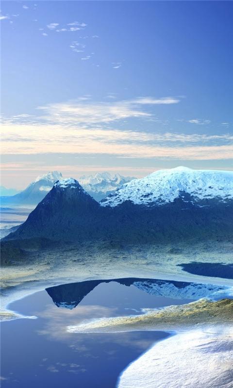 3d_mountain_scenery Windows Phone Wallpaper