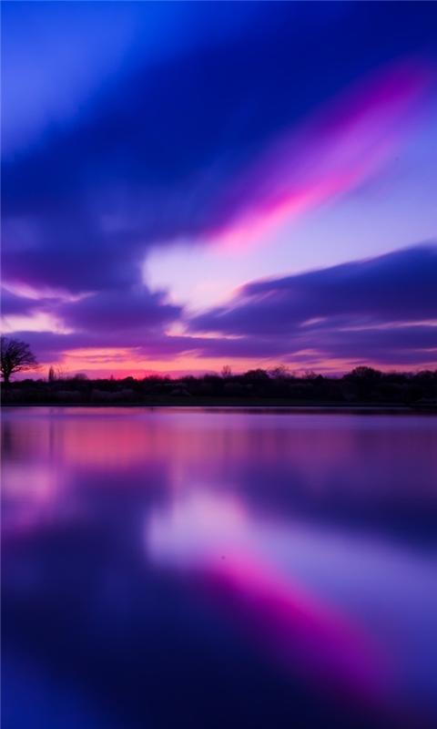 Purple Sunset Windows Phone Wallpaper