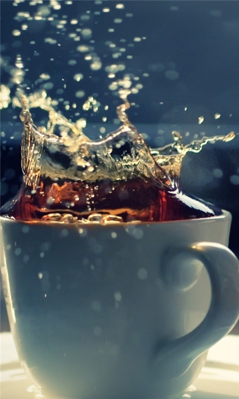 Splash In A Tea Cup Windows Phone Wallpaper