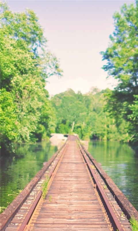 Rail Bridge Mississippi River Flooding Louisiana Windows Phone Wallpaper