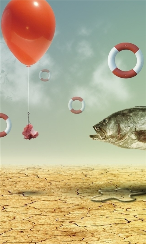 Fish Baiting Windows Phone Wallpaper