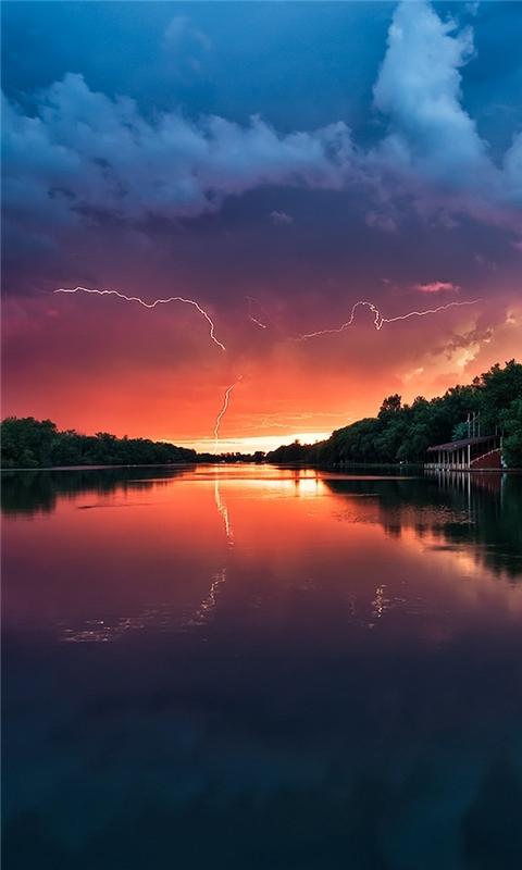 Sunset Landscapes Windows Phone Wallpaper