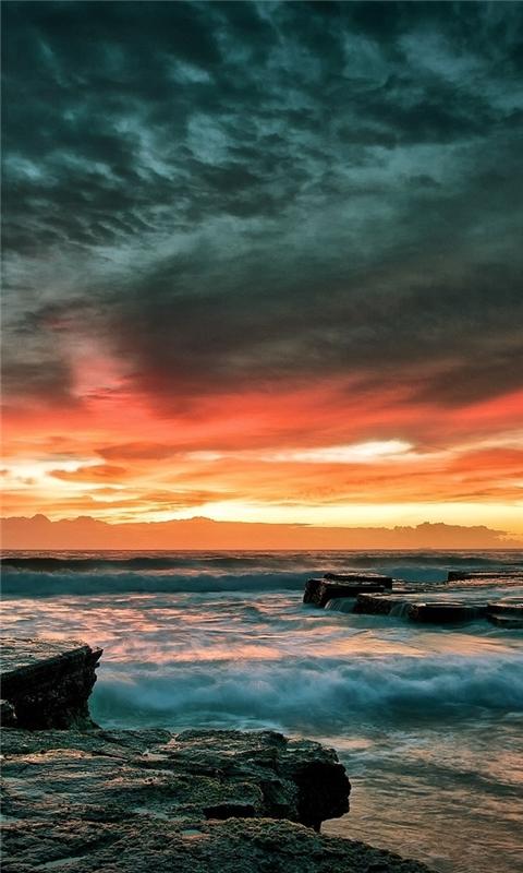 Multicolor Shore Windows Phone Wallpaper