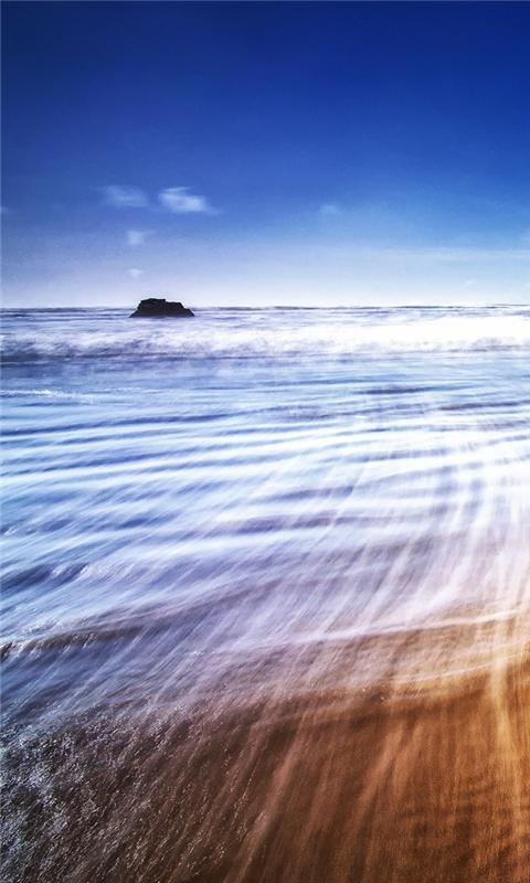 Beach Waves Windows Phone Wallpaper