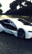 Bmw I8 Sports Car Road Tree