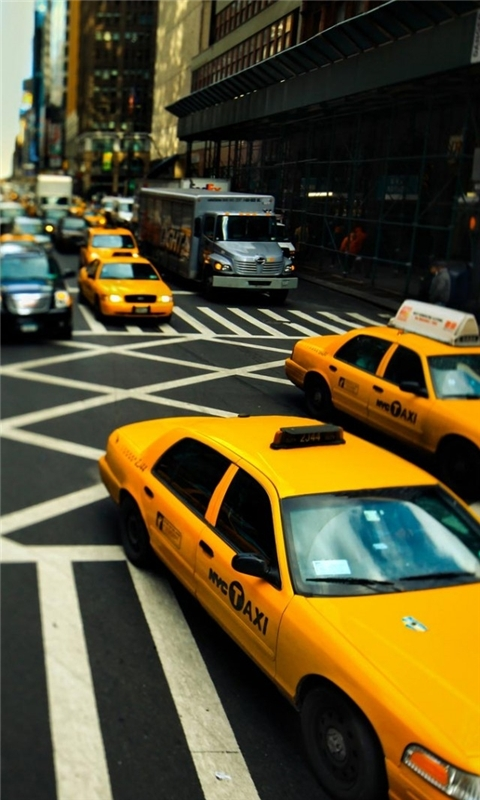 New York Cabs Windows Phone Wallpaper